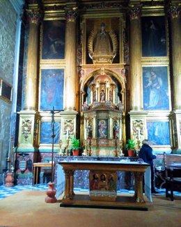 Retablo y Custodia de la Iglesia de las Bernardas