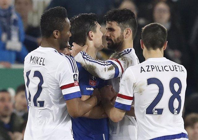 Diego Costa con el Chelsea, en el FA Cup