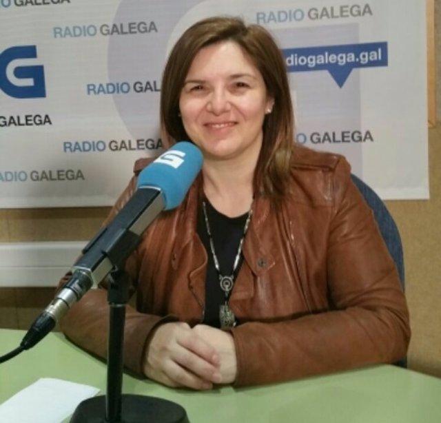 La secretaria de Organización del PSdeG, Pilar Cancela, en la Radio Galega