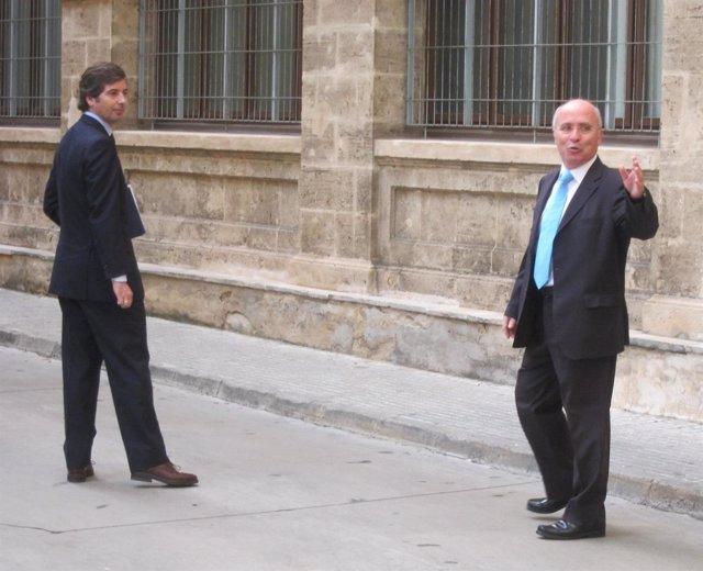 Fernando Areal y su abogado