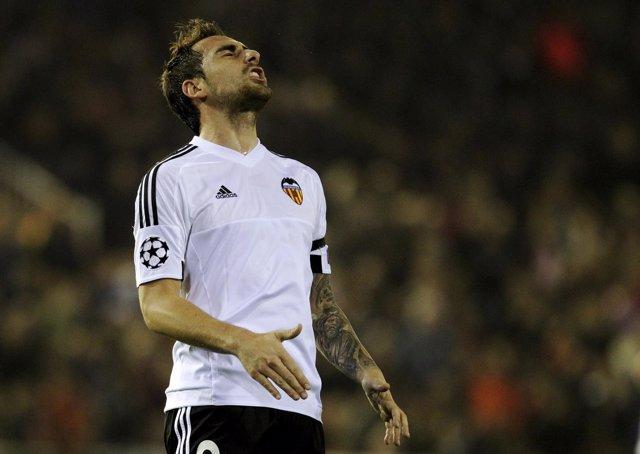 Paco Alcácer lamenta la eliminación del Valencia en la 'Champions'