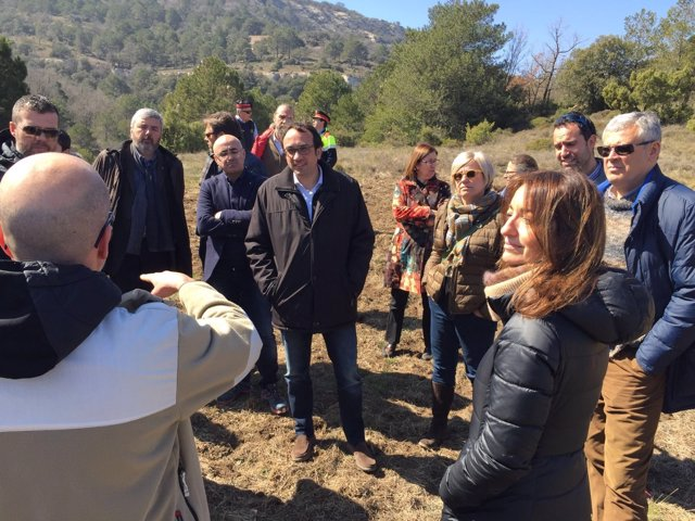 El conseller Josep Rull en el Parque Natural del Montsant