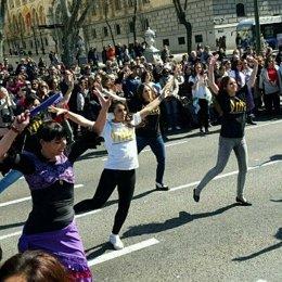 Flashmob en el Paseo el Prado