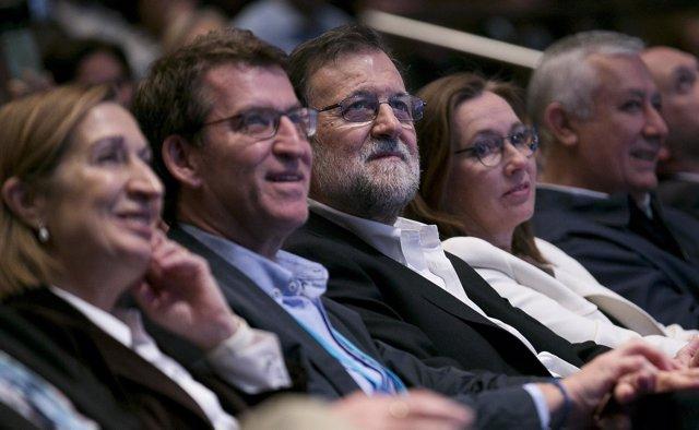 Rajoy en un acto del PP en Pontevedra
