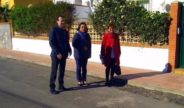 Visita del PSOE a Nueva Almería