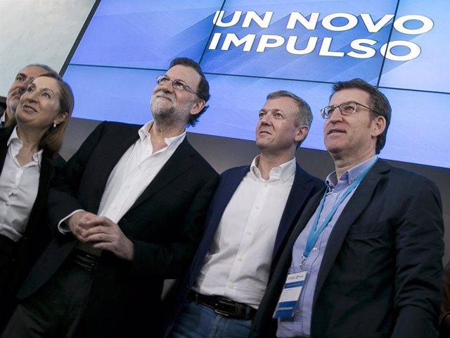 Rajoy en un acto político del Partido Popular en Pontevedra