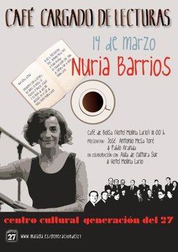 Café cargado de lecturas con Nuria Barrios