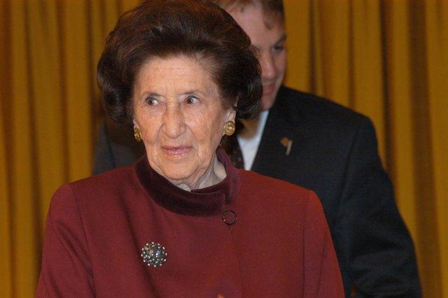 La presidenta de honor de la Fundación Carulla,  Maria Font de Carulla