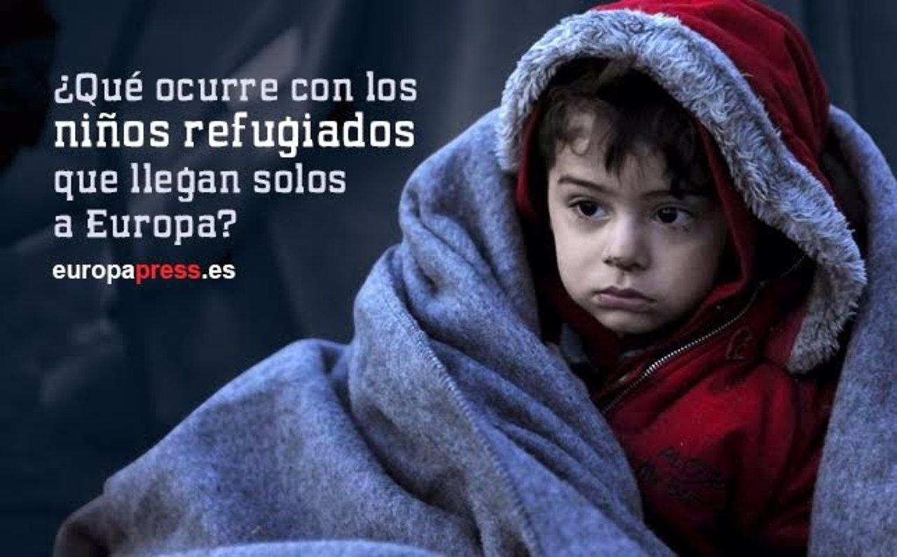 Niño refugiado