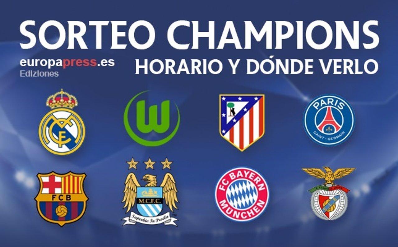 Horario y dónde televisan el sorteo de cuartos de final de Champions ...
