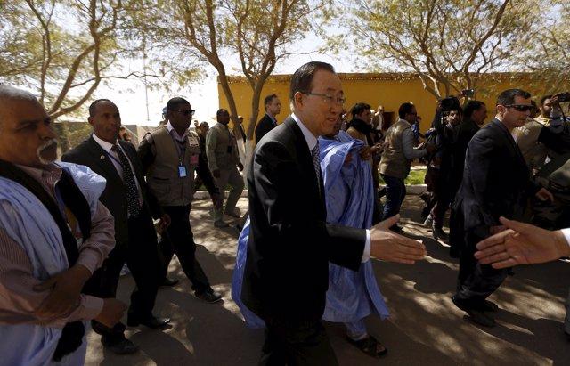Visita de Ban Ki Moon a los campamentos de refugiados saharauis en Tinduf