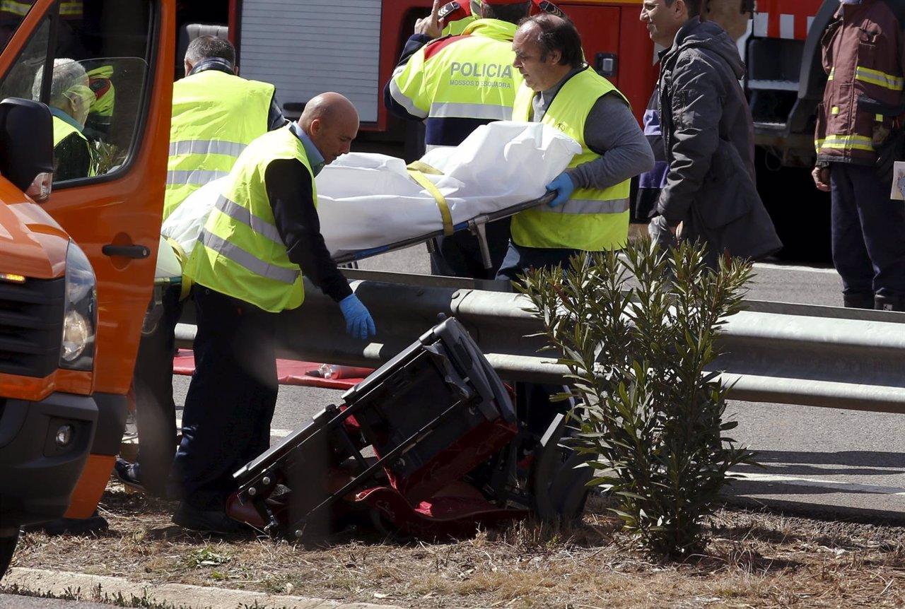 Accidente de autocar en Freginals, Tarragona