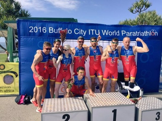 Paratriatletas Series Mundiales triatlón Sudáfrica