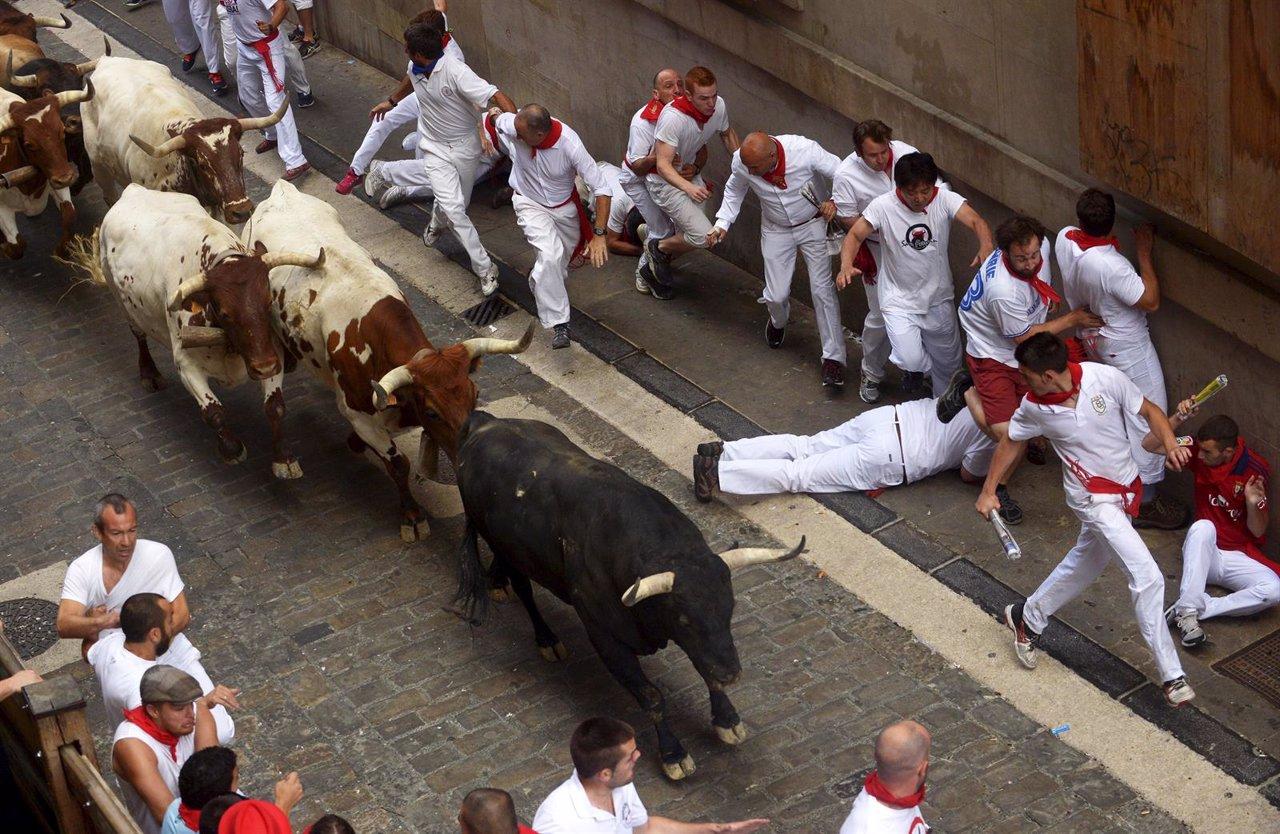 Segundo encierro de San Fermín 2015