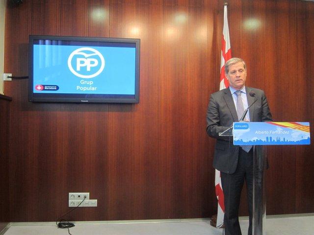 El líder del PP en el Ayuntamiento de Barcelona, Alberto Fernández