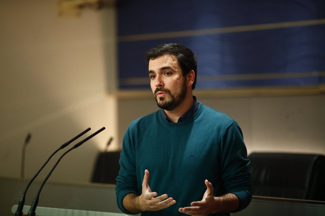 Alberto Garzón en el Congreso