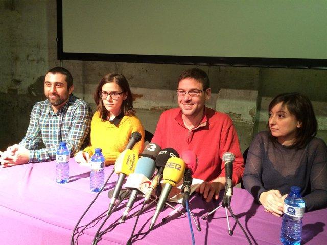 Javier López, Gertrudis Conde, Albano Dante Fachín, Sandro Ramos