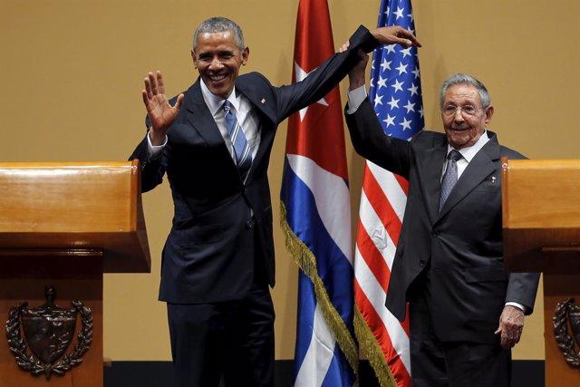 Barack Obama y Raúl Castro en La Habana