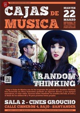 Cartel del concierto de Random Thinking