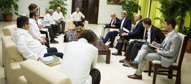 Reunión de John Kerry con las FARC en La Habana