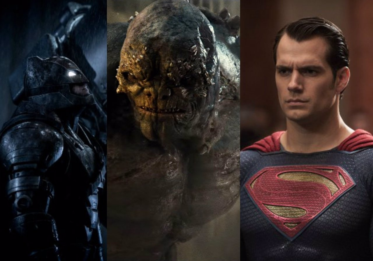 Batamn, Doomsday y Superman en Batman v Superman