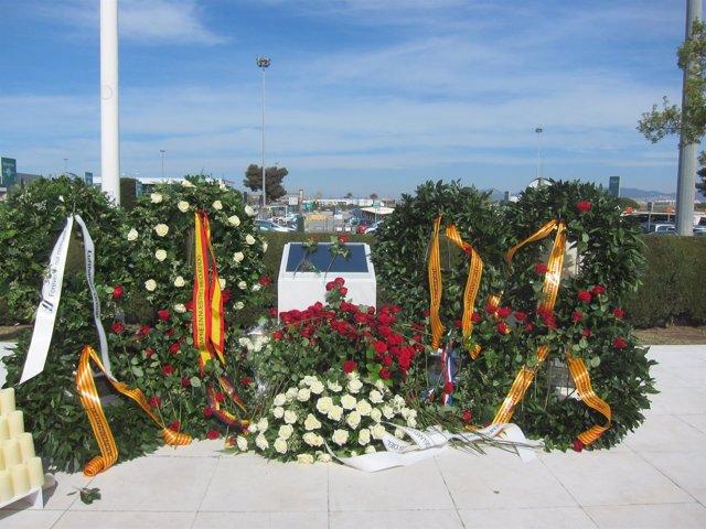 Placa por el accidente de Germanwings de 2015 (Aeropuerto de Barcelona)