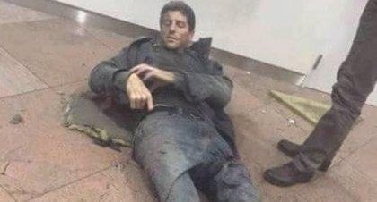 El deportista brasileño Sebastien Bellin, la imagen del horror en Bruselas