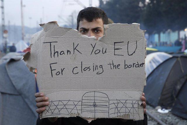 Refugiados en Idomeni (Grecia)