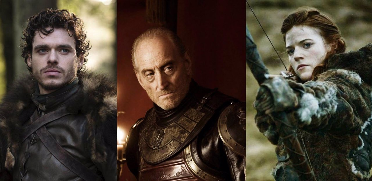 Robb Stark, Tywin Lannister y Ygritte en Juego de tronos
