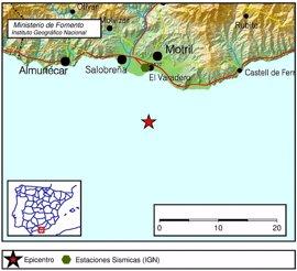 Sentido en las costas de Málaga y Granada un terremoto de 3,9