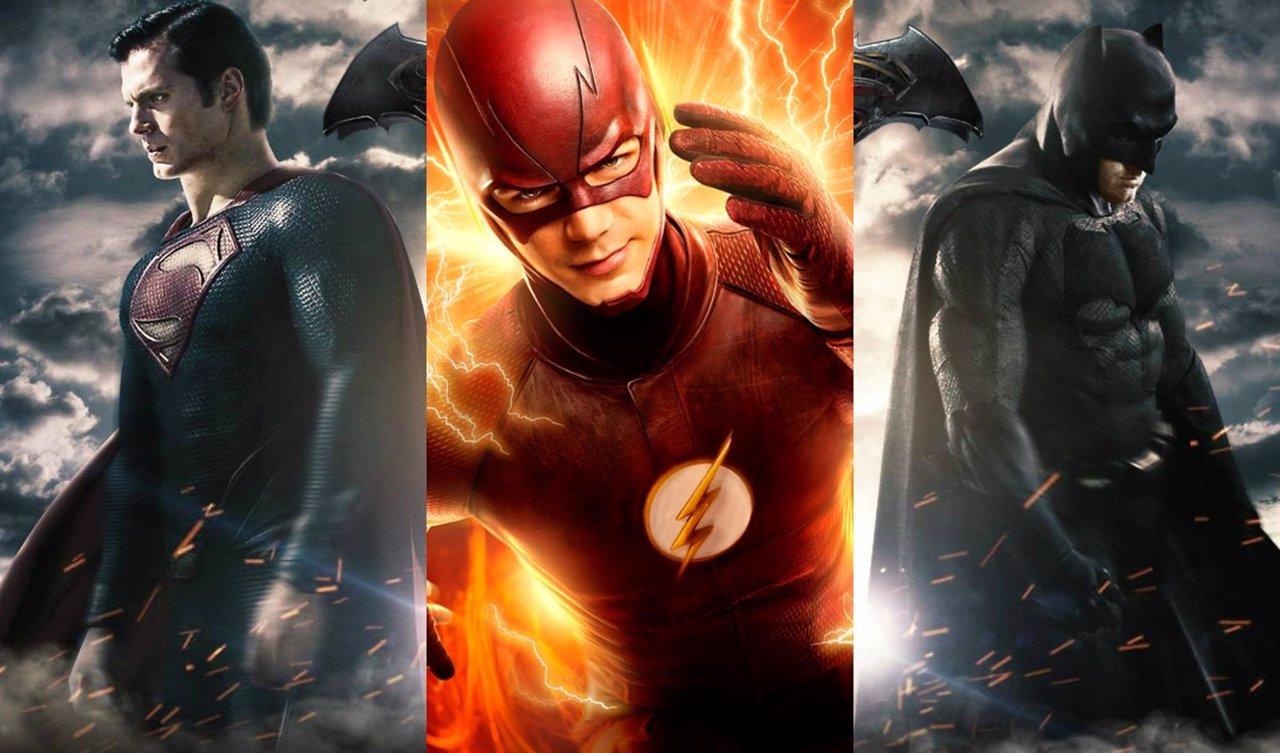 Collage con Batman v Superman y The Flash