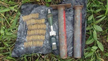 Encuentran dos depósitos ilegales de armas pertenecientes a las FARC