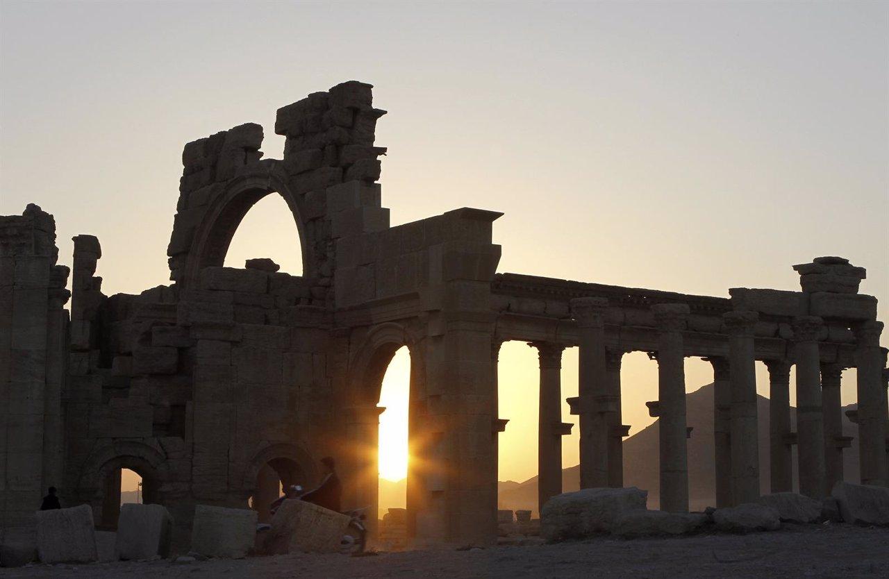 Ruinas de Palmira, Siria, Patrimonio de la Humanidad.