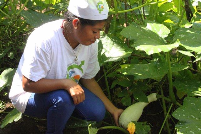 Participante en un proyecto de Cruz Roja en Nicaragua