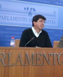 El portavoz de Ciudadanos en el Parlamento andaluz, Juan Marín