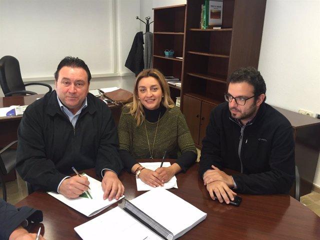 Reunión entre la Diputación de Almería y Asaja