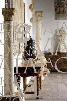 Vista desde la recepcion del interior del Palacio de Viana