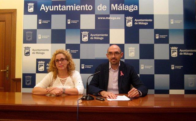Remedios Ramos y Eduardo Zorrilla, concejales IU-Málaga Para la Gente
