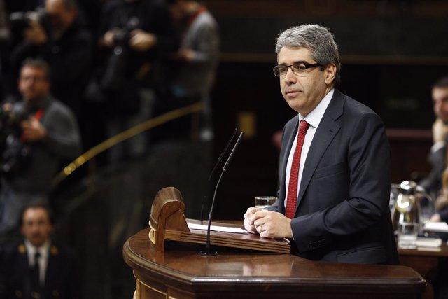 Francesc Homs en la sesión de investidura de Sánchez