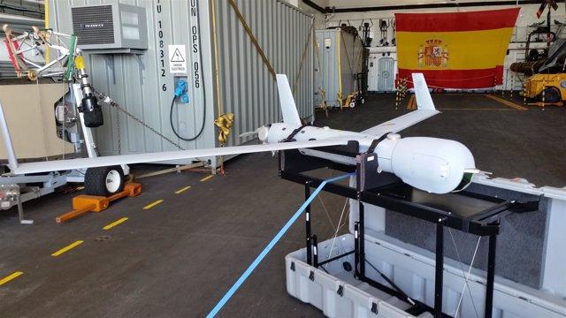 Dron utilizado por la Armada en la operación antipiratería en el Índico