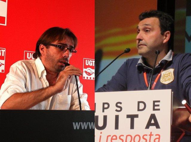 Camil Ros y Matías Carnero (UGT de Catalunya)