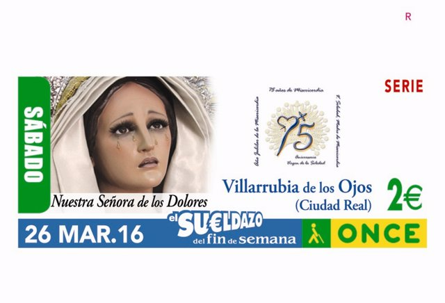 Cupón de la ONCE del sábado 26 de marzo de 2016