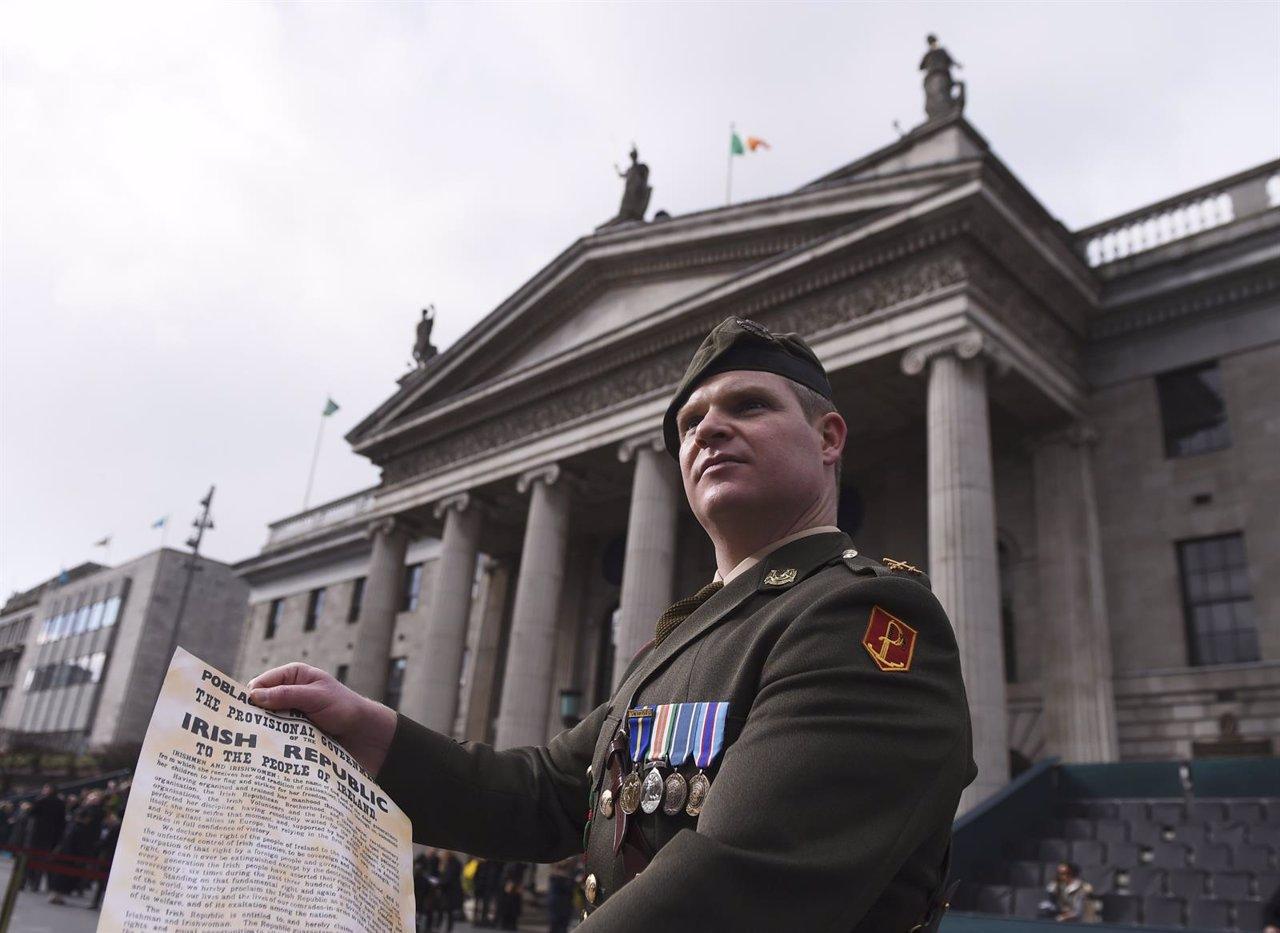 Lectura de la Declaración de Independencia de Irlanda de 1916