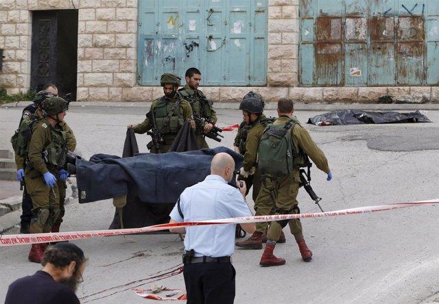 Palestino supuestamente ejecutado en Hebrón (Cisjordania)