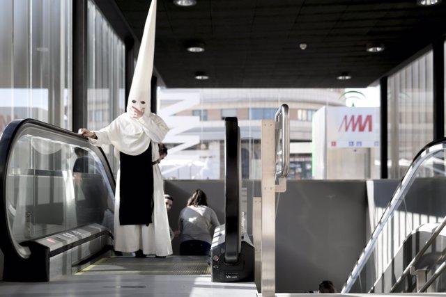 El metro de Málaga durante la Semana Santa de 2015