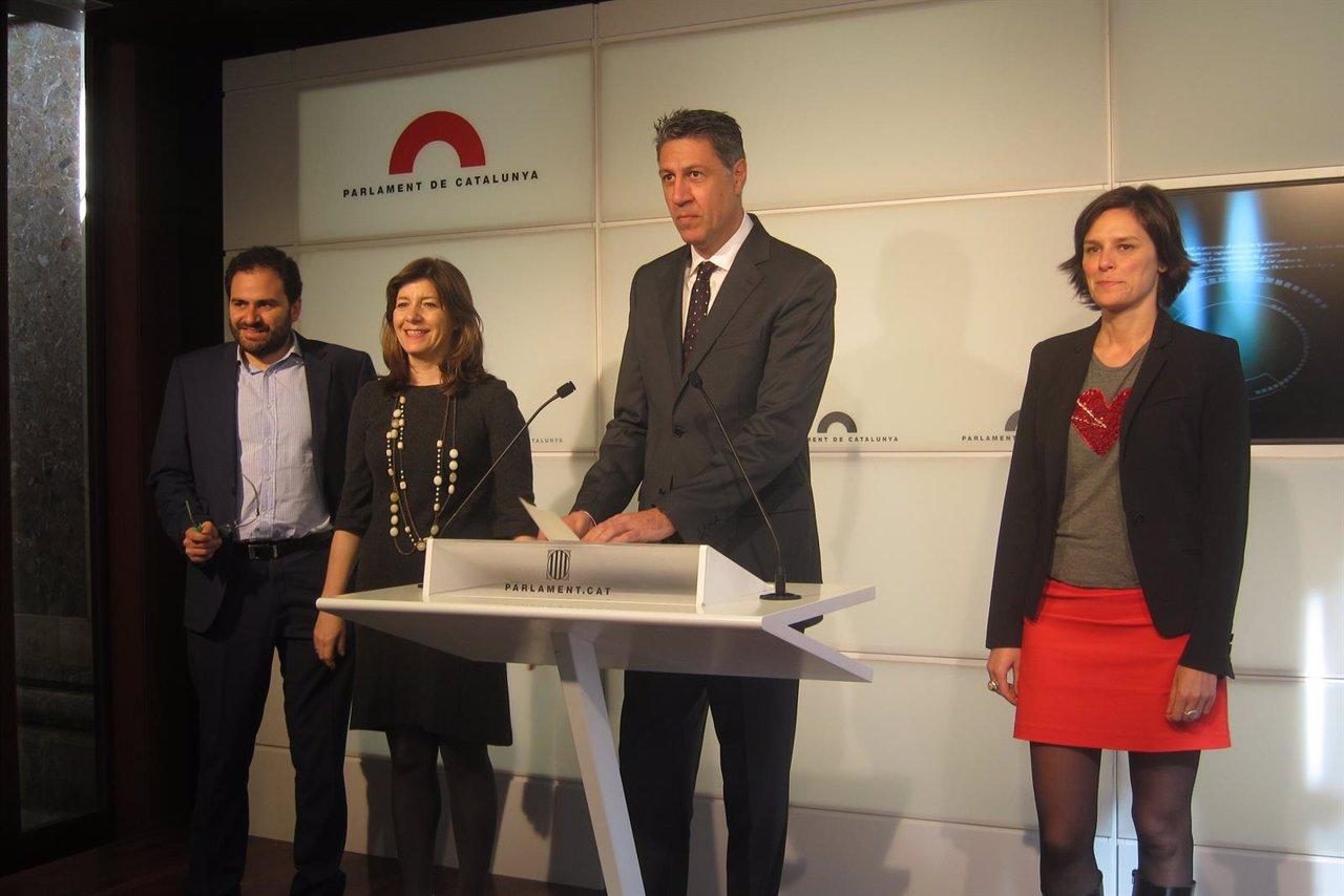 F.Sánchez Costa, M.J.Cuevas, X.García Albiol y E.García (PP)