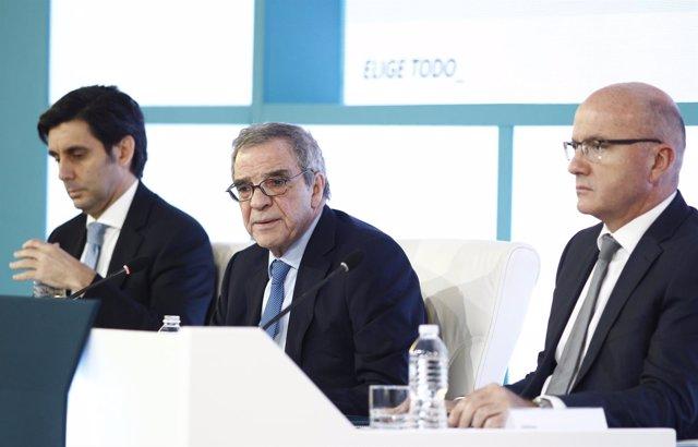 César Alierta en la presentación de resultados de Telefónica