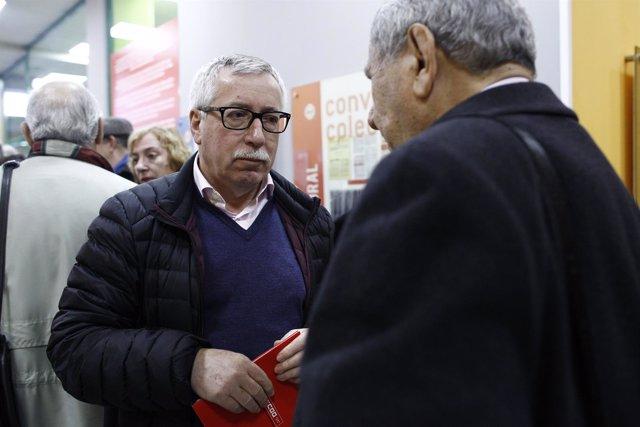 Ignacio Fernández Toxo inaugura la exposición sobre el 50 aniversario de CCOO
