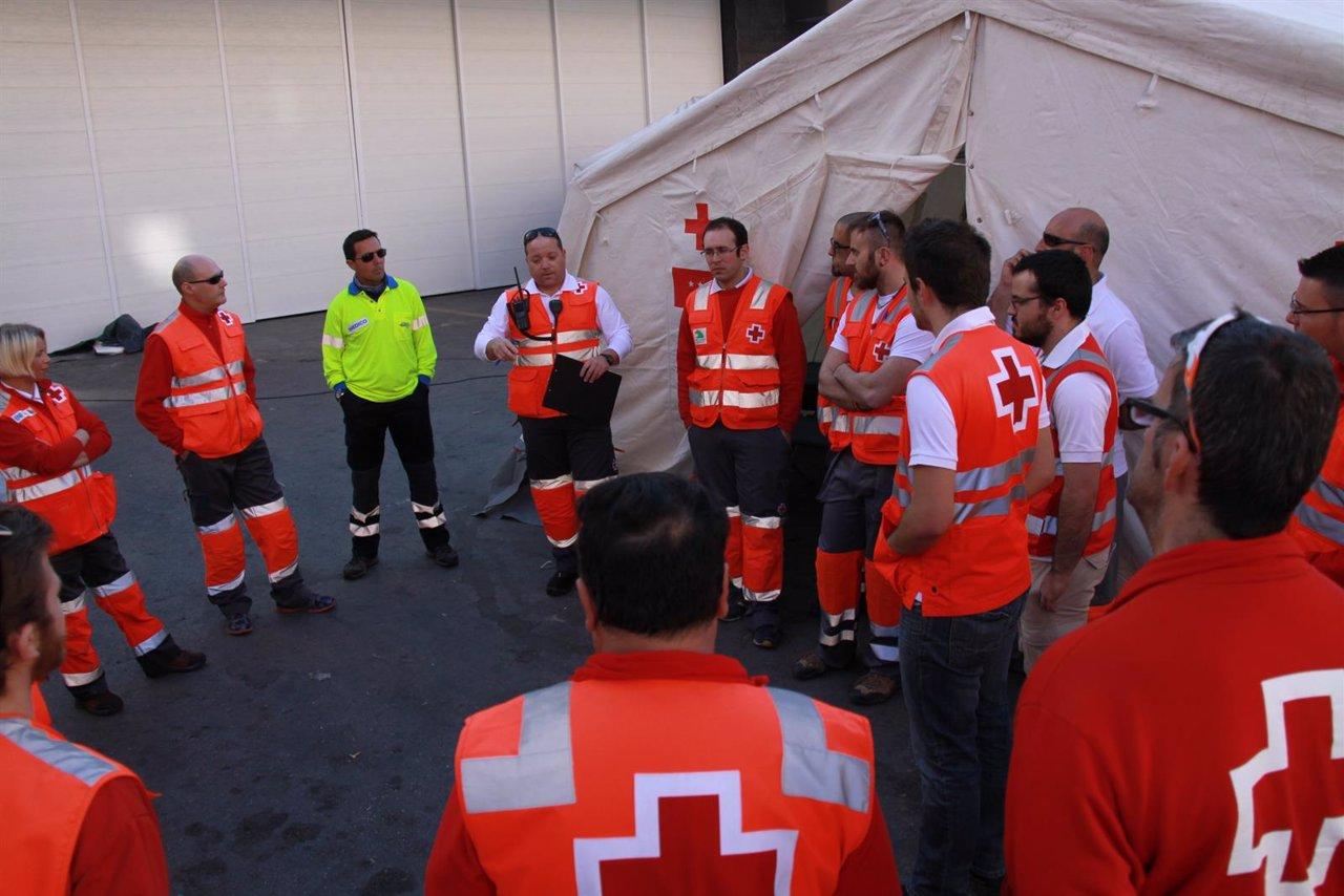 Voluntarios de Cruz Roja, dispositivo Bando de la Huerta