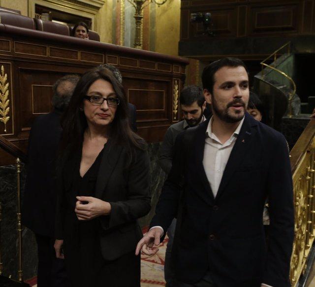 Sol Sánchez y Alberto Garzón